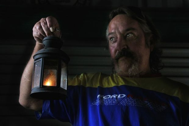 GHOST HUNTER: Darryl Brown has had two hunted house experiences in Bundy. Photo: Zach Hogg / NewsMail