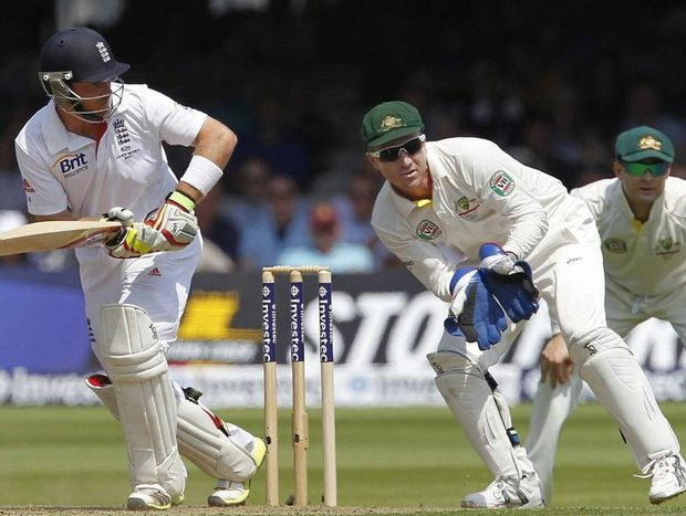 Action during day one of the second Test in England
