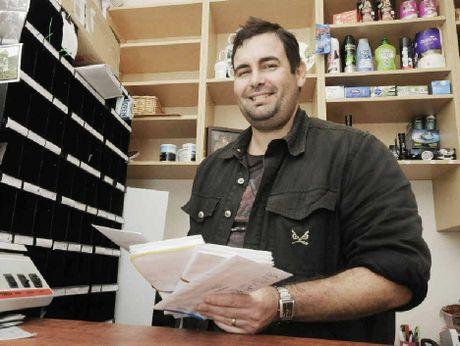 Paul Dooner, postmaster of the Rock Valley Post Office.