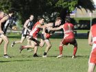 The Byron Magpies maintained their premiership charge in local Aussie Rules by beating nearest rivals the Tweed Tigers 9.10 (64) to 7.7 (49).