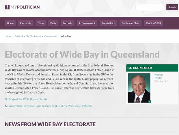 The website mypolitician.com.au shows what politicians are up to Facebook, Twitter and elsewhere online.