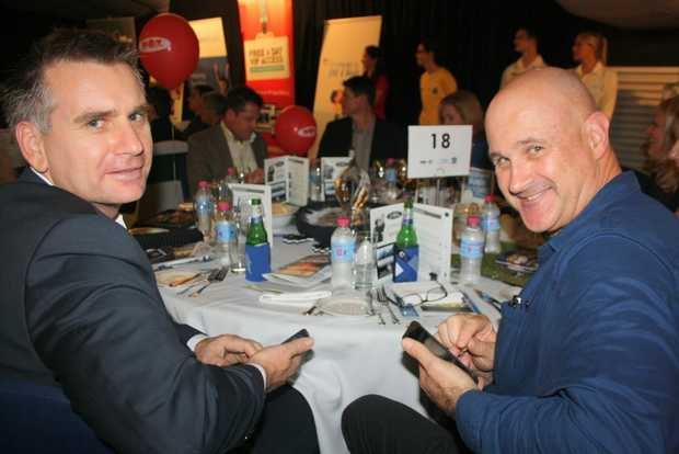 Image for sale: Jason Kollanyi and Ross Webb of Reed Property Group at the Half Time Break luncheon for Sunnykids Photo: Erle Levey / Sunshine Coast Daily