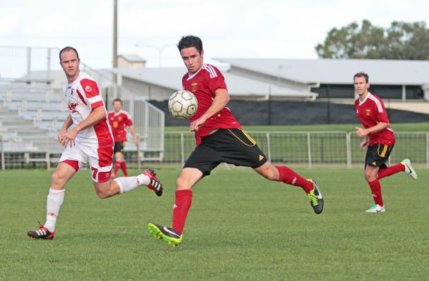 Sunshine Coast Fire player Leon Dwyer in game against Redlands. Photo Darryn Smith / Sunshine Coast Daily