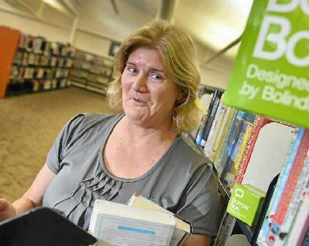 Regional librarian Fran Moroney says e-books are proving popular at Gladstone Library.