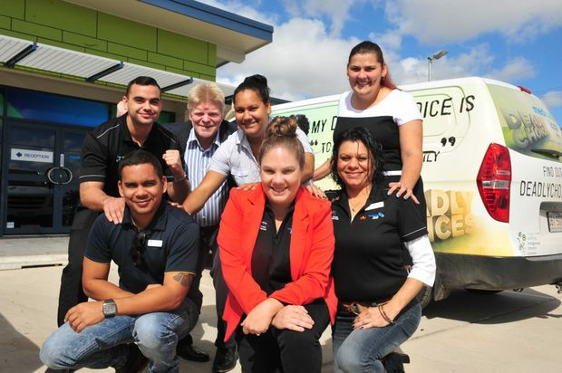 DEADLY:The Wide Bay Medicare Local's indigenous health team members Luke Watson, Kylie McCartney and Selina Hill (front) Loyde Johnson, Shane Dawson, Ennalise Tanna and Jennilee Brown (back) have been nominated as finalists in two categories for the prestigious Deadly Awards . The team has received national recognition for their commitment to improving health outcomes for Aboriginal and Torres Strait Islander people across the region. Photo: Max Fleet / NewsMail