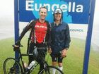 Support cyclist Andrew Felton and ultra-marathon runner Mark McFadzen at the summit of Eungella.