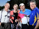 BACK ON COURSE: Cr Charlie Pisasale, The Queensland Times general manager Carly Gregory, Mayor Paul Pisasale and BOQ Winston Glades manager Marty Branigan are supporting the campaign to reopen Ipswich Golf Course.