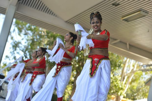 Sri Lankan dancers perform on stage at the 2013 Multicultural Festival.