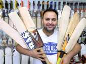 A PERSONAL friendship with Indian captain MS Dhoni has seen Ipswich businessman Raj Sharma acquire the personal bats of many of the world's greatest players.