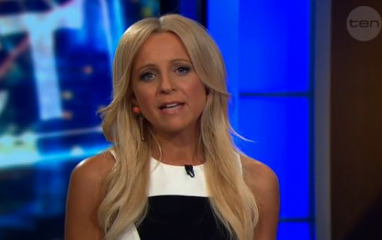 Carrie Bickmore on The Project.