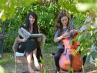 JUST CHILLIN': Jacinta Richmond relaxes as her daughter Leilani practises the cello.