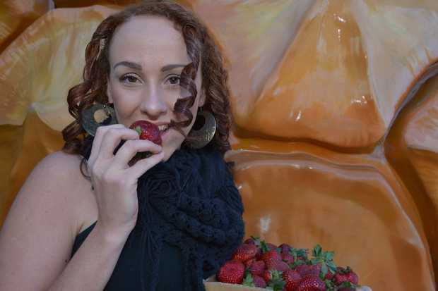 Image for sale: Tayla Mojidi loves fresh fruit for breakfast. Photo: John McCutcheon / Sunshine Coast Daily