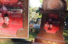 The Morcombe family posted this photo of Daniel Morcombe's gravesite on Facebook.