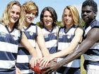 KEEN PLAYERS: Hoping to help their Byron Bay High School AFL side achieve state success are players Doc Adams, Flynn Brown, Rhet James, Jordy Magnus and John Pupangamirri.