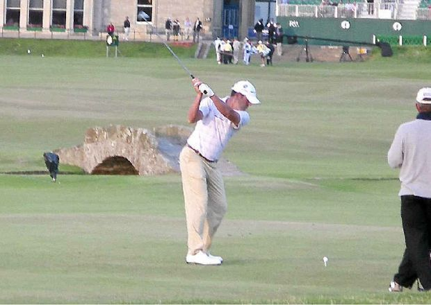 BOYHOOD DREAM: Ex-Headland Golf Club member Richard Moir at the 2005 British Open at St Andrews.