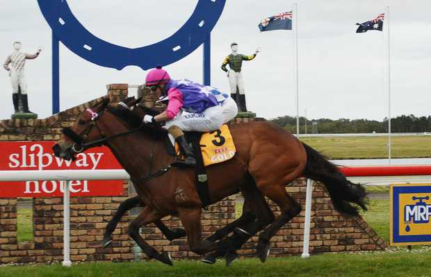 Winner of The 2013 Ballina Cup, PLAYITSTRAIGHT, ridden by Ashley Butler and trained by Barry Lockwood (eagle farm).