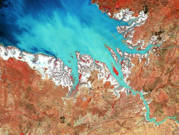 BIG PICTURE: An aerial image of part of the central Queensland coast taken using ESRI's Geographic Information Systems technology.