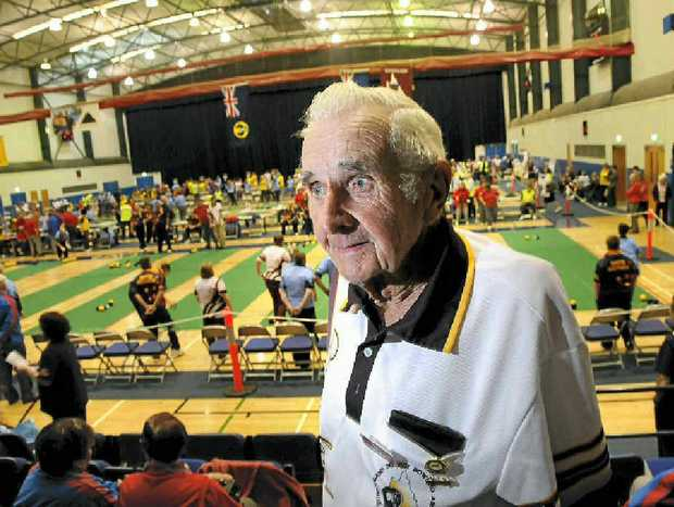 Warwick dairy farmer Rex Brown is pleased to be a member of the Queensland Indoor Bowls Team.
