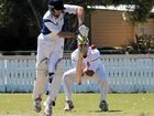 Cricketers warm up for