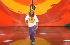A still from Tommy Franklin's Australia's Got Talent finals performance.