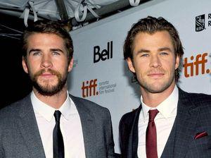 Liam Hemsworth with his brother Chris Hemsworth.