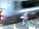 Cyclist has near miss at railway crossing