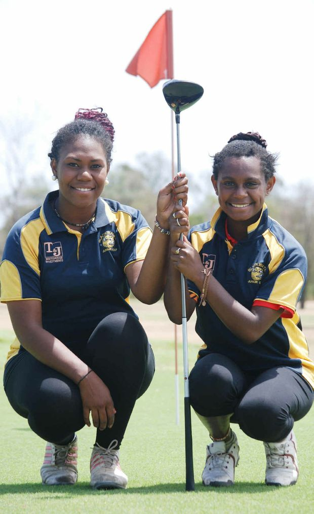 GOLF STARS: Tahira and Rae Weiki.