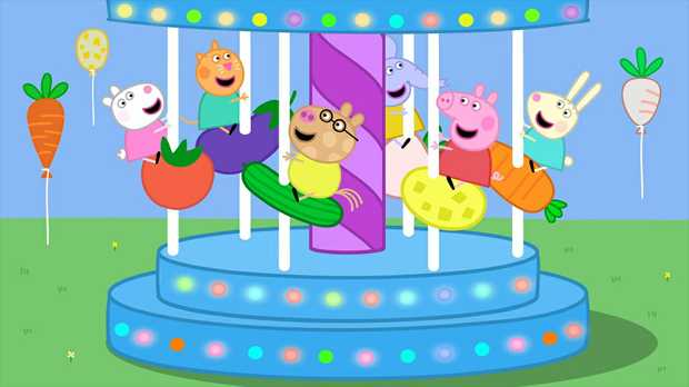 The colour and fun of children's TV show Peppa Pig.