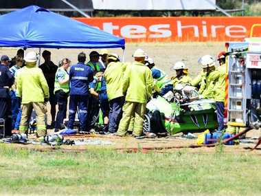 The fatal crash scene.