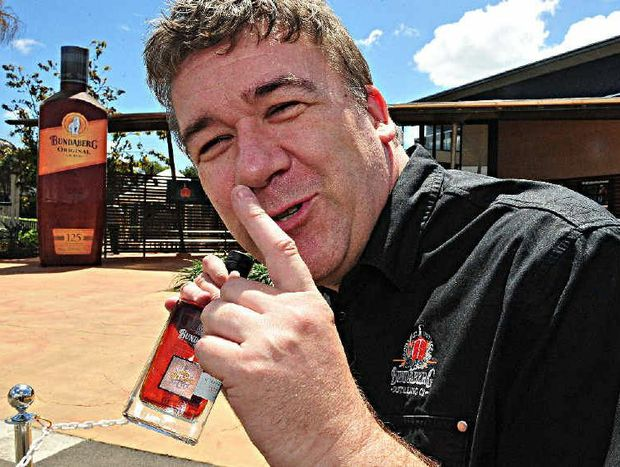 NEW RUM: Bundaberg Distilling Company site manager Graham Wrigglesworth won't be able to keep the next rum a secret for much longer.