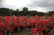 Crowds gather at the 2013 Walk For Daniel event.