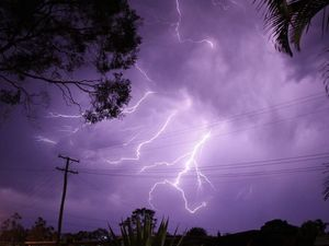 RUNNING MAN: Caught and aptly named by many photographers around Bundaberg in the recent storms. Photo: Paul Donaldson / NewsMail