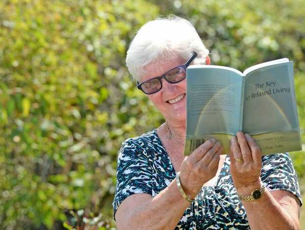 Kingscliff Author Lillian Toby with her new book called The Key to Relaxed Living.