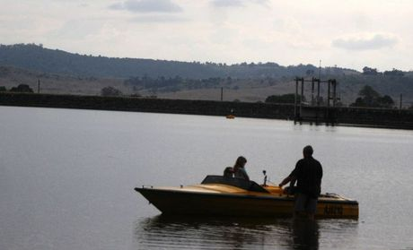 There was only one boat on the water at lake Dyer the morning after the drowning of an eight-year-old girl at the lake.