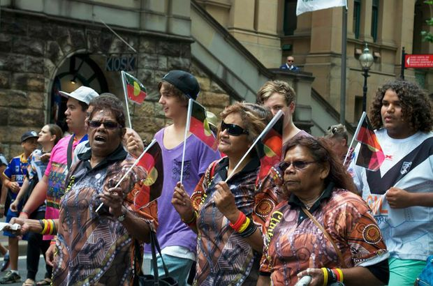 The march on Macquarie St calling for justice for the families of the murdered Bowraville children.