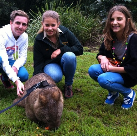 Bailey 'Bazz' Lancaster with Bindi Irwin.