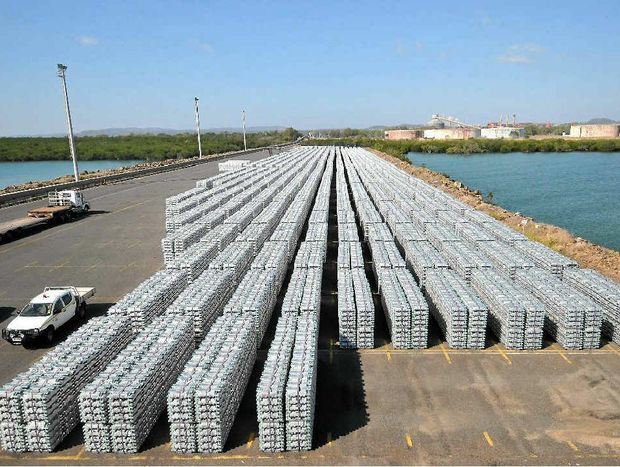 A graphic illustration of the amount of aluminium business that will be lost due to Boyne Smelter Ltd's three-month production cutback at Gladstone.