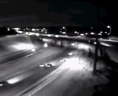 A car plummets from a bridge as the US suffers through a chilling polar vortex.