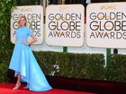 Bright colours dominated the 2014 Golden Globes red carpet fashions.