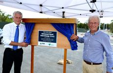 Geoff Provest and Barry Longland opening the Kirkwood Rd upgrade.