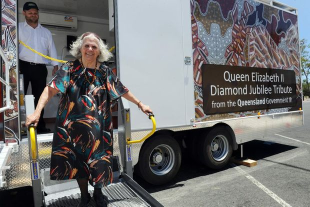 Hervey Bay's Galangoor Duwalami clinic will be regular point of call for the mobile screening clinic. Butchulla elder Aunty Joyce is impressed with the facillities and will no longer need to travel to Brisbane for her check-ups.
