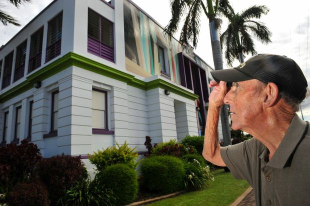 JUST WAIT: Bundaberg painter and member of the Bundaberg Art Society Austen Whittaker is disappointed he and the group won't be able to show their works at the BRAG gallery for another 4-6 years. Photo: Max Fleet / NewsMail