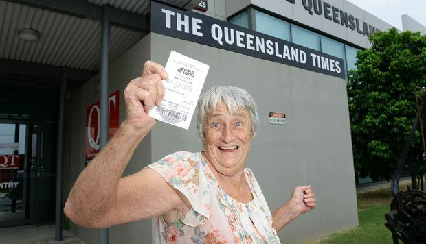 Jeanette Kitching's luck ran out when she claimed the prize and a golden chance for lotto riches, not winning a single cent in the massive draw.