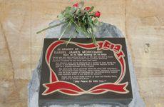 The Daniel Morcombe Memorial near where he was taken in 2003.