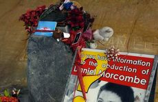 The roadside memorial for Daniel Morcombe.