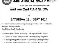 SWAP MEET  starts 6am