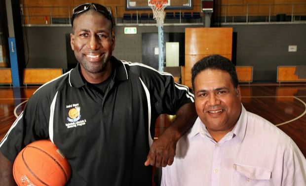 Andre Moore and Sam Ahmat will be holding the First Nation All Nations Logan City Basketball Knockout Tournament 2014. Photo Inga Williams / The Reporter