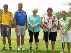 Warwick golfers Tony Kahler, Jay Roberts, Al Thornton, Sam Hinze, Annice Payne and Jan Maher are ready.