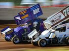 Lexi Underwood and Simon Sullivan in the F500s at the Rockhampton Speedway. Speedway action will heat up tonight.