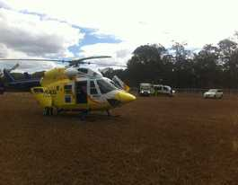 Chopper airlifts trail biker